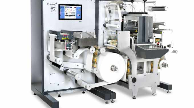 TrojanLabel premieres the Trojan T4, a compact digital label press and finishing system, for the first time at a US trade show