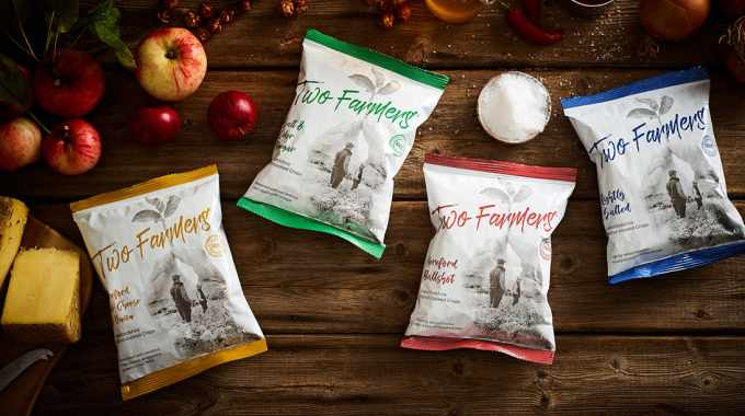 Two Farmers introduces world's first compostable crisp packet