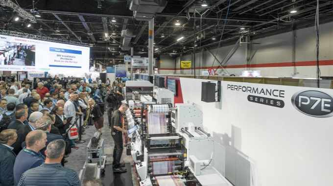 The Mark Andy P7E was a key launch at Labelexpo Americas 2018